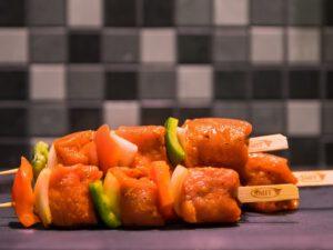 Shaslick met paprika, spek en ui (p.s.)
